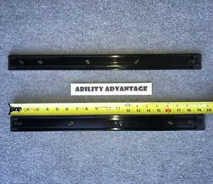 "2 Permobil UNITRACK RAILS, NARROW,19.5"" LONG X 3/8"" THICK. PERFECT !"