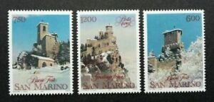 SJ-San-Marino-Christmas-1991-Festival-Building-Architecture-stamp-MNH