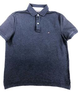 Tommy-Hilfiger-Navy-heather-Custom-Fit-Polo-Current-Season-RRP-75