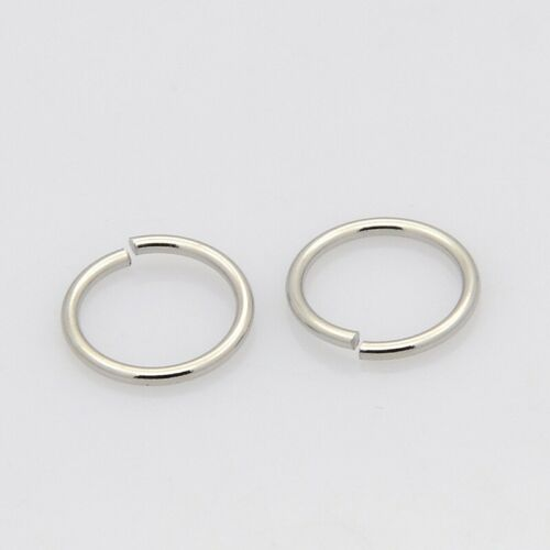 100pcs Unplated Stainless Steel Open Jump Ring Hoop Connector Findings Inner 5mm