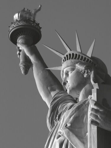 STATUE OF LIBERTY ART PRINT Liberty with Torch by Chris Bliss ART POSTER 11x14