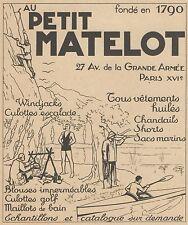 Z9347 Vetements Au Petit Matelot -  Pubblicità d'epoca - 1936 Old advertising