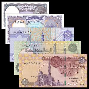 Egypt-5-PCS-Banknotes-Set-5-10-25-50-Piastres-1-Pound-UNC