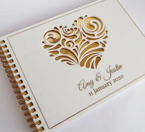 Wedding Guest BookPERSONALISEDwhiteA5 PREMIUMEngagement gift