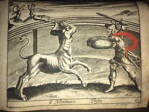 MINOTAURE. Cuivre Du XVIIème Par MATHÉUS - France - Type: Gravure Genre: Académisme Thme: Religion, Mythologie Authenticité: Original Période: XIXme et avant - France