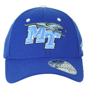 NCAA Zephyr Middle Tennessee Blue Raiders Flex Fit Stretch Medium Large Hat Cap