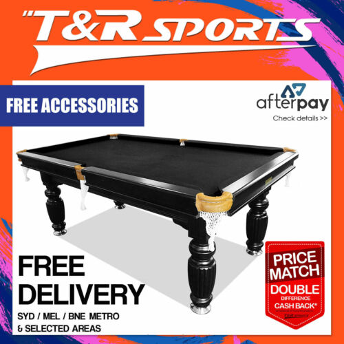 8ft luxury black slate pool/snooker/billiard table