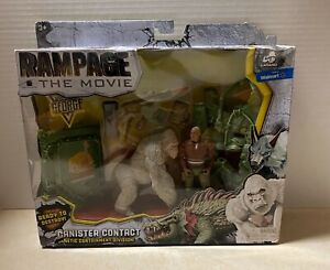 Rampage the Movie Canister Contact George Lanard Figure Set Walmart NIB