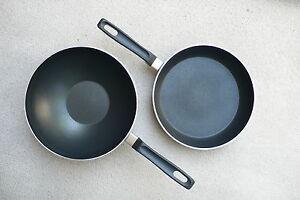 Aluminum Non Stick Fry Pans Stay Cool Handles Ebay