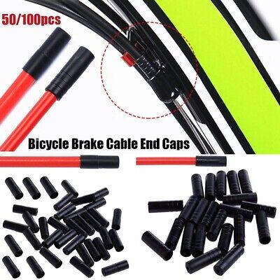 MTB Bike Brake Gear Outer Cable End Caps Tips Crimps Cap Plastic Cable Caps