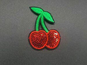 Parche-Cerezas-Cherry-Patch-Sew-Iron-Slot-coser-Bordar-A
