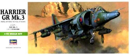 RAF GERMANY MARKINGS HARRIER GR MK.3 #B06 1//72 HASEGAWA