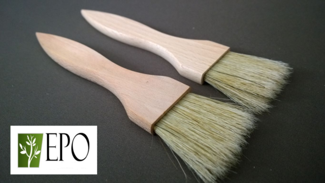 Pastry Brush Set KitchenCraft Wide Wooden Basting 2 Pieces