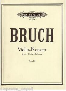 Bruch: Violin Concerto (Konzert Für Violine) Op.26 - Peters