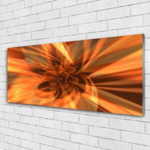 Tulup Glasbilder Wandbild Dekobild 100x50 Abstrakte Linien Kunst