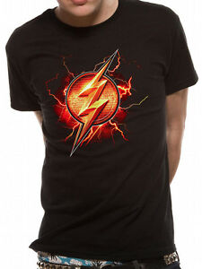 3e7b02d9 The Flash Logo Justice League Movie Classic Official DC Comics Black ...