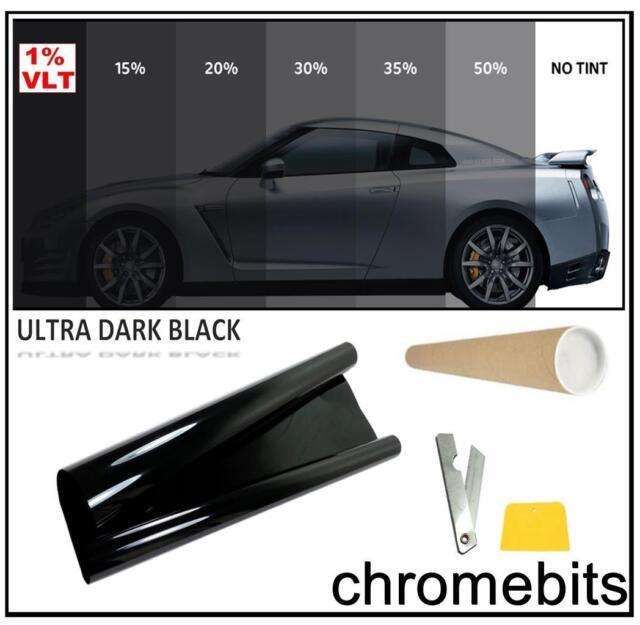 VAN CAR OFFICE TINTING WINDOW TINT FILM ULTRA LIMO BLACK 1% 3M x 50CM
