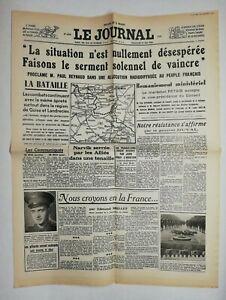 N612-La-Une-Du-Journal-Le-journal-19-mai-1940-situation-nullement-desespere