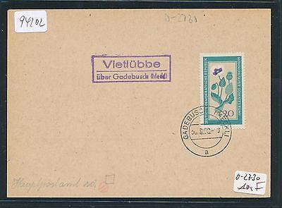 meckl Ddr Landpost Ra2 Vietlübbe über Gadebusch Philat Kte 1960 Mangelware Realistisch 94202