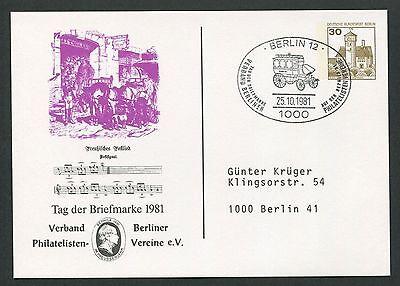Berlin Privat-ga 1981 Tag Der Marke Pferde-kutsche Pferd Horse Postlied D6162 Mit Traditionellen Methoden