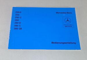 Betriebsanleitung-Handbuch-Mercedes-8-W114-230-6-250-C-280-E-C-CE
