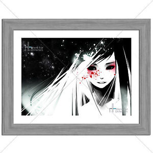 Various Sizes Gift Idea Anime Print Dark Anime Girl