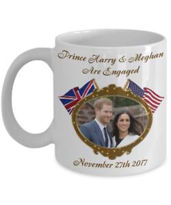 Prince Harry And Meghan Are Engaged Commemorative Coffee Mug Royal Wedding