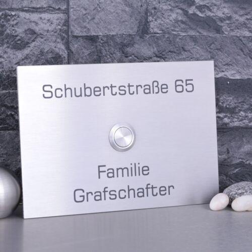 JL Edelstahl Klingelplatte Haustürklingel V2A LED Türklingel Klingelknopf V2A