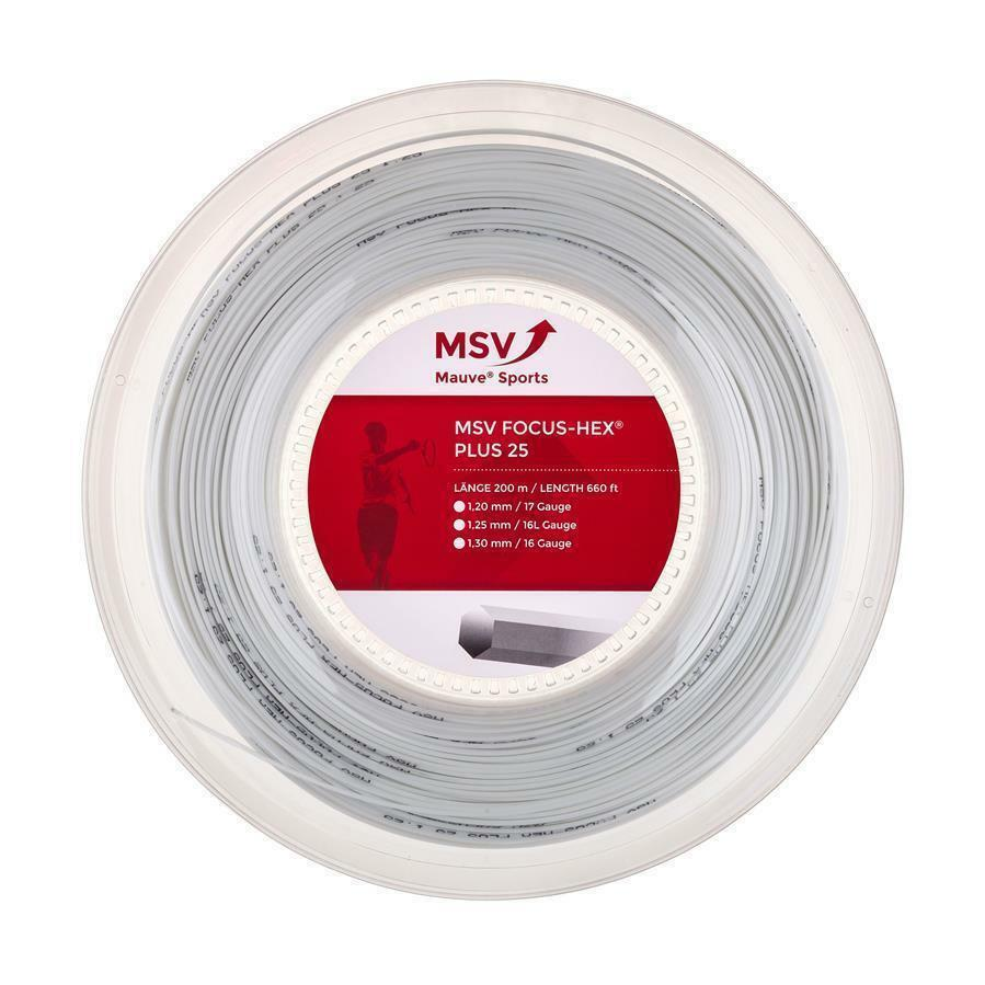 MSV Focus - HEX PLUS 25 ( 200m Rolle ) weiß 1 25 mm (0 35 EUR m)