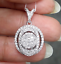 Steal-Deal-1-00-CTW-Genuine-Round-Cluster-Diamond-Halo-Pendant-Charm-14K-Gold thumbnail 1