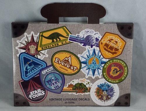 Disney Parks WDW Vintage 50 Luggage Decals Stickers Travel Walt Disney World NEW