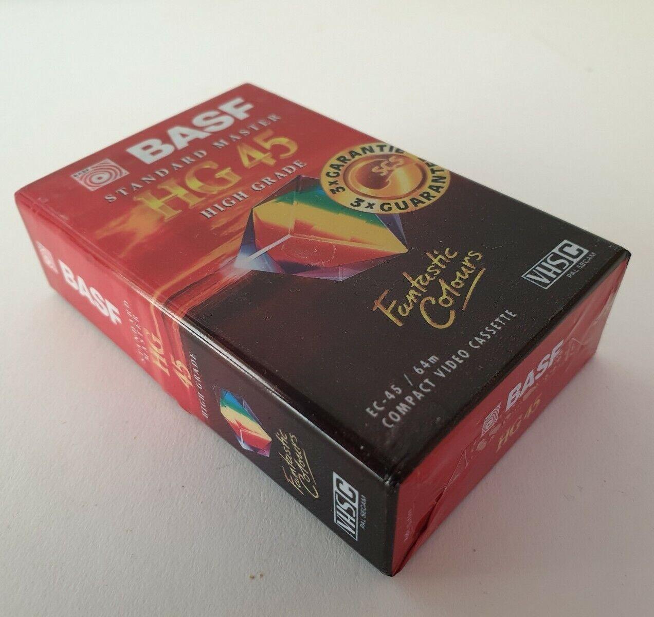 New BASF HG45 Standard Master High Grade Compact Video Cassette