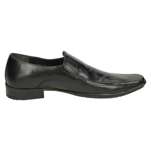 Lambretta /'Shellan/' Men/'s Smart Formal Slip On SAhoes in Black 100/% Leather