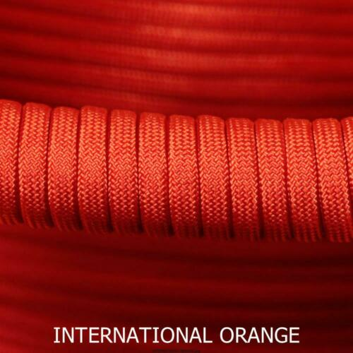 INTERNATIONAL ORANGE 100FT PARACORD 550 TYPE 3-7 STRAND PARACHUTE CORD