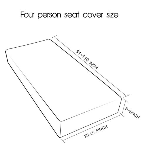 1-4 Seats Waterproof Stretchy Sofa Seat Cushion Cover Couch Slipcovers
