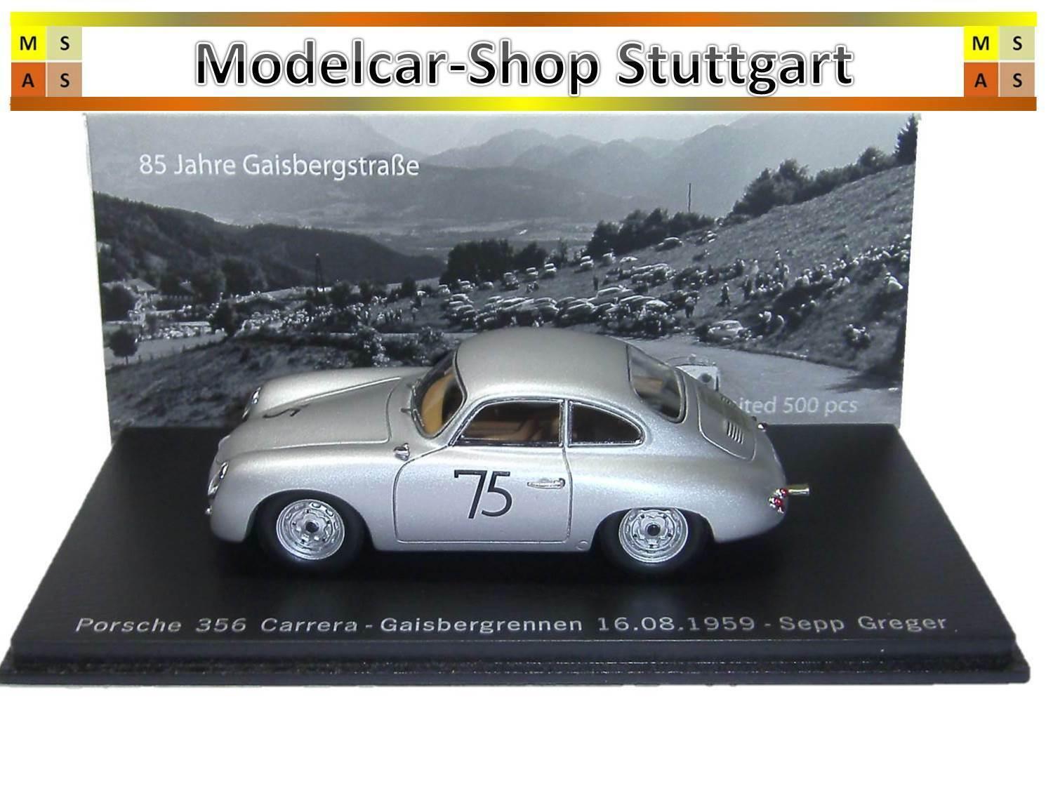 PORSCHE 356 voitureRERA Gaisberg Course 1959-Limousine  Edition-Spark 1 43  authentique
