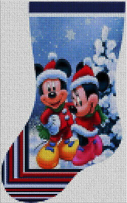 Disney Cross Stitch Christmas Stocking Patterns.Christmas Disney Stocking Cross Stitch Embroidery Kit Pattern Chart Pdf Count Ebay