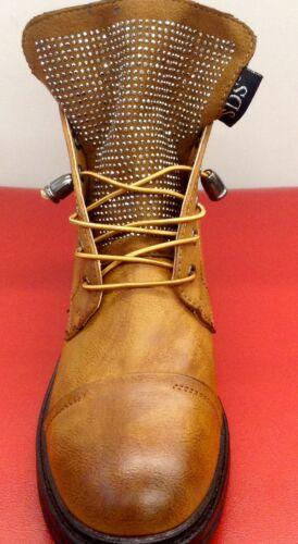 Chaussures Femmes Strass Bottines Boots délaçage Taille 36-41