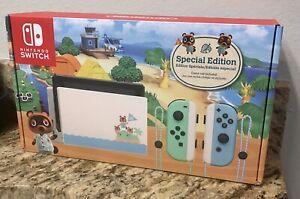 NIB-Nintendo-Switch-Animal-Crossing-New-Horizons-Special-Edition-Console