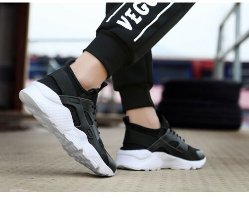 MENS WOMENS TRAINERS LACE UP SPORTS RUNNING GYM CASUAL SHOES BREATHABLE SIZE