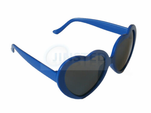 SMALL ADULT BLUE HEART SHAPED SUNGLASSES TEENAGERS GIRLS WOMENS SHADES TH003