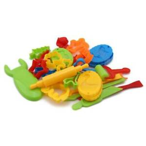 Kids Play-Doh Dough Tools Set Clay Modelling Rolling Pins Cookie Cutters Pin MP