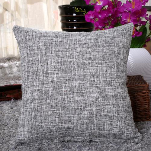 "Cotton Linen Taie d/'oreiller canapé taille Jeter Coussin Solid Cover Home Decor 18x18/"""