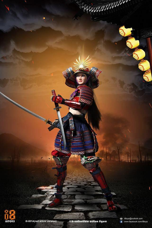 18 Spielzeug 1 6 Weiblicher Samurai Figure Set (rot Armor) GII8-001A