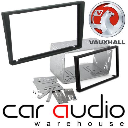 VAUXHALL Corsa 2000-2006 Auto Stereo Doppio DIN Nero Fascia Pannello Gabbia ct23vx01