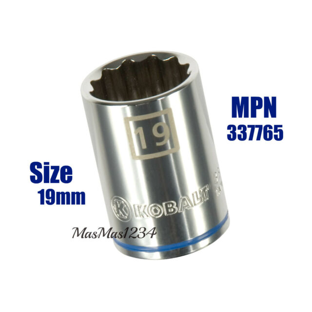"""NEW 6 Point SAE Inch Metric MM Any Size KOBALT 3//8/"""" Drive Shallow Socket"""