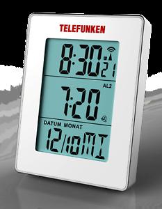 TELEFUNKEN-FUD-30-S-G-Multifunktions-Funkwecker-grosse-Anzeige-weiss-B-Ware
