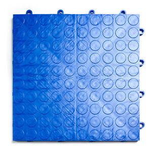 ROYAL BLUE - Coin-Top Garage Floor Tile - GarageDeck  MADE IN THE USA