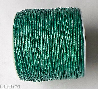 80 Mtrs (1 Roll ) x 1mm Teal Wax Cotton Thread Cord String Wire Jewellery Making