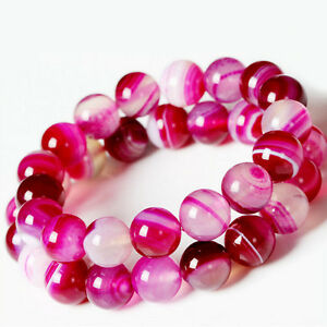 Stylish-Natural-Pink-Agate-Round-Loose-Beads-Charms-Making-4-6-8-10-12mm-Gift